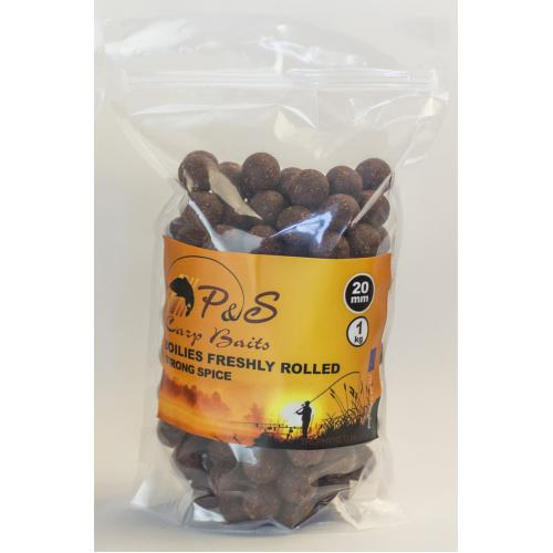 Бойлы P&S Boilies Freshly Rolled Strong Spice - 20 мм 1 кг