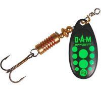 Блесна DAM Effzett Standard Spinner Black Green 10гр