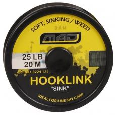 "Шнур поводочный DAM MAD Hooklink 4-braid ""Sink"" gravel 20m 25lb"