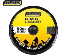 Шок лидер маркерного-сподового удилища MAD S-M-S LEADER / 50lb / 50m / GREEN