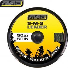 Шнур проводочный MAD S-M-S LEADER / 50lb / 50m / GREEN