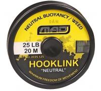"Шнур повідковий DAM MAD Hooklink 4-braid ""Neutral"" weed 20m 25lb"