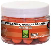 Бойлы Rod Hutchinson Fluoro Pop Ups Pineapple,Mango & Banana 15mm